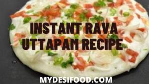 Instant Rava Uttapam