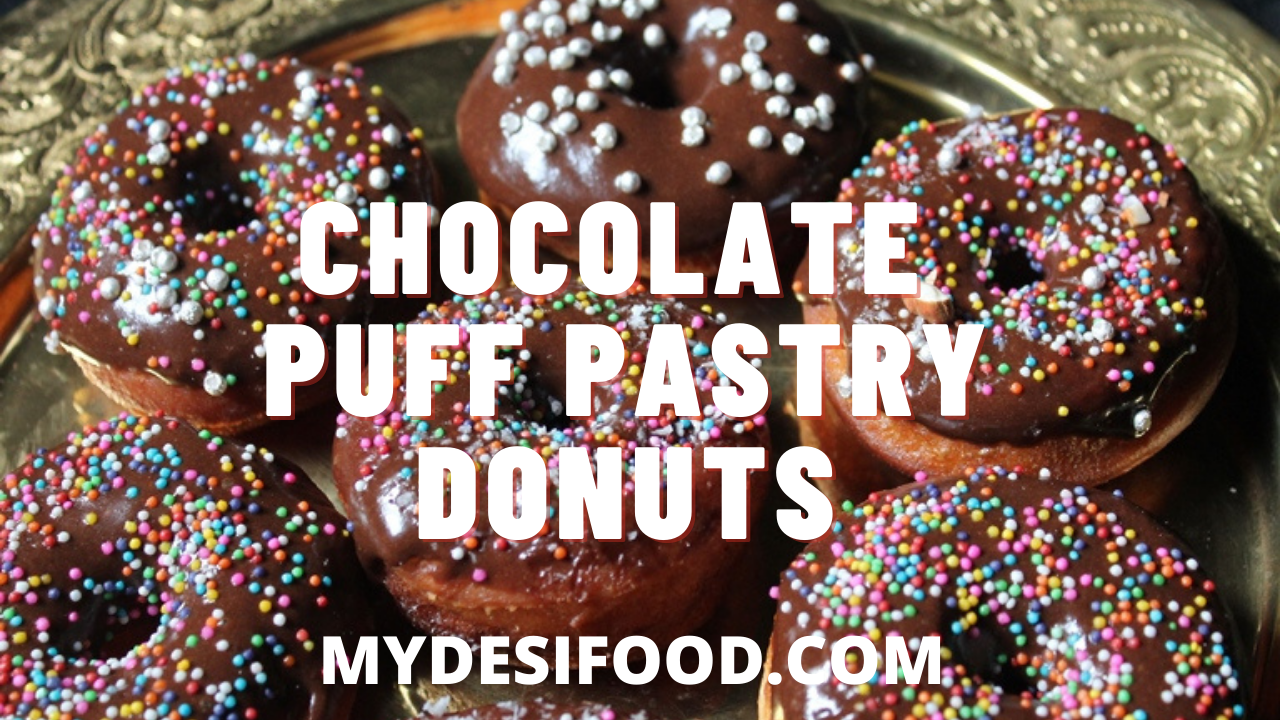 Chocolate Puff Pastry Donuts